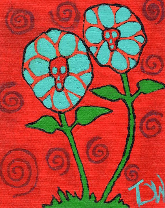 Death's Flora - Brain Injured Art by T. D.Woods