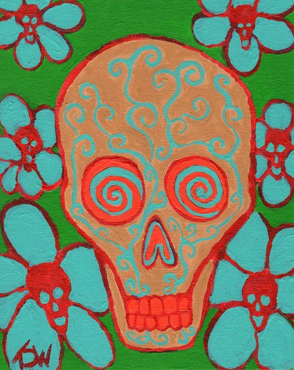 Blooming Hereafter - Brain Injured Art by Thomas D.Woods