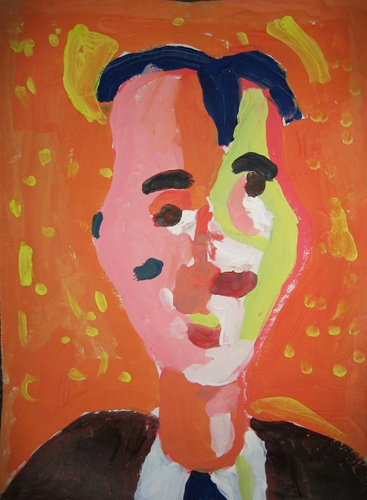 Orange portrait - golden section 21