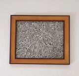 8x10 black ink drawing abstract