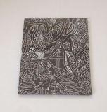 8x10 framed black ink designs