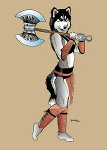 Furry with an axe