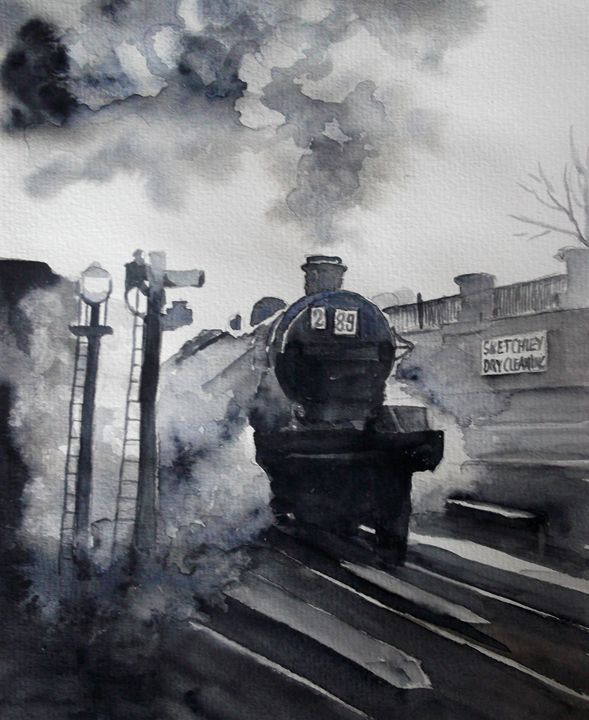 Euston Station Holiday train 1930's - Jillian Bryan