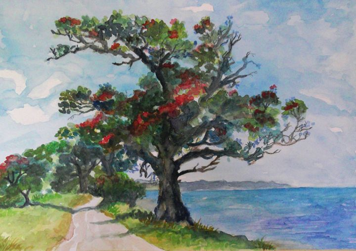 Our NZ Crimson Coast -Pohutakawa Tre - Jillian Bryan