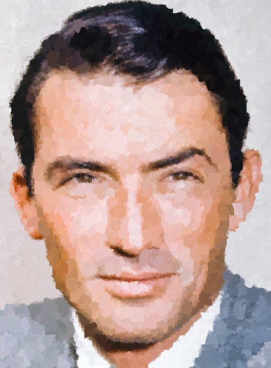 Gregory Peck Portrait - Portraits by Samuel Majcen