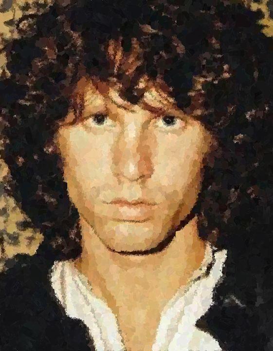 Jim Morrison Portrait - Portraits by Samuel Majcen