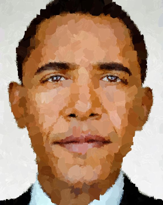Barack Obama Portrait - Portraits by Samuel Majcen