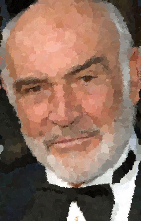Sean Connery Portrait - Portraits by Samuel Majcen