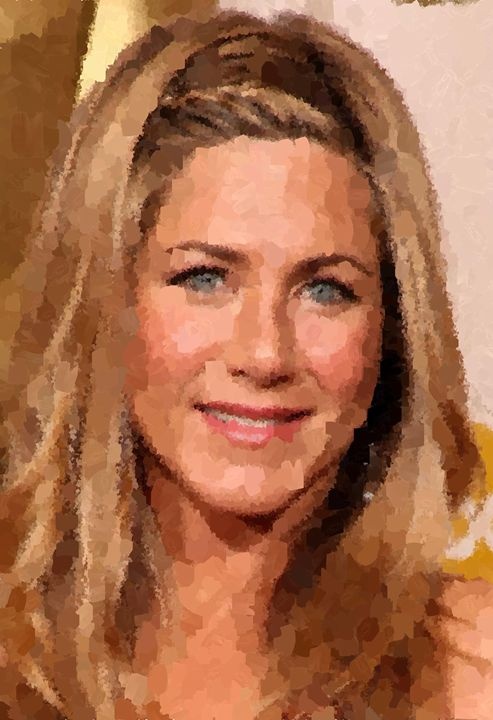 Jennifer Aniston Portrait - Portraits by Samuel Majcen