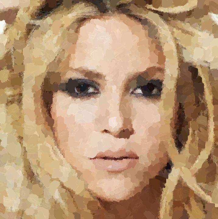 Shakira Portrait - Portraits by Samuel Majcen