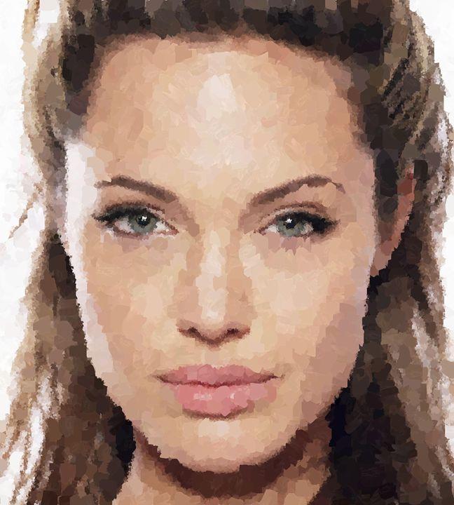 Angelina Jolie Portrait - Portraits by Samuel Majcen