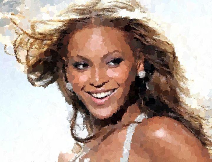 Beyonce Portrait - Portraits by Samuel Majcen