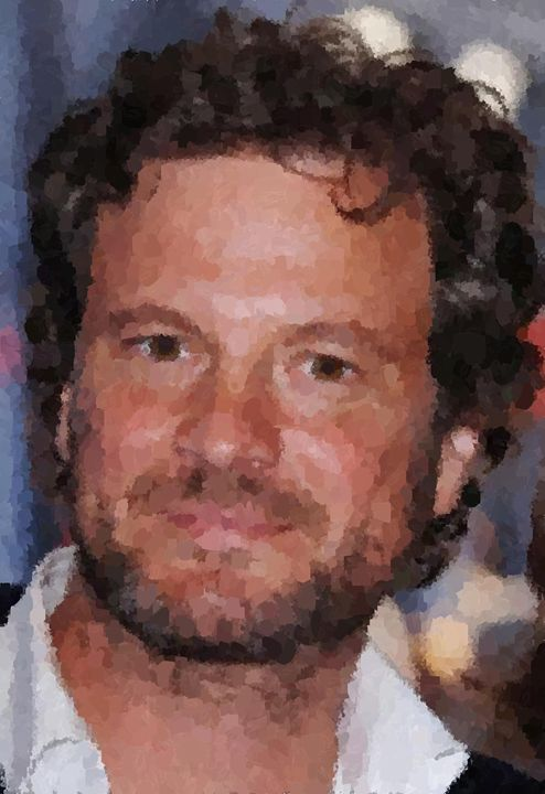 Colin Firth Portrait - Portraits by Samuel Majcen