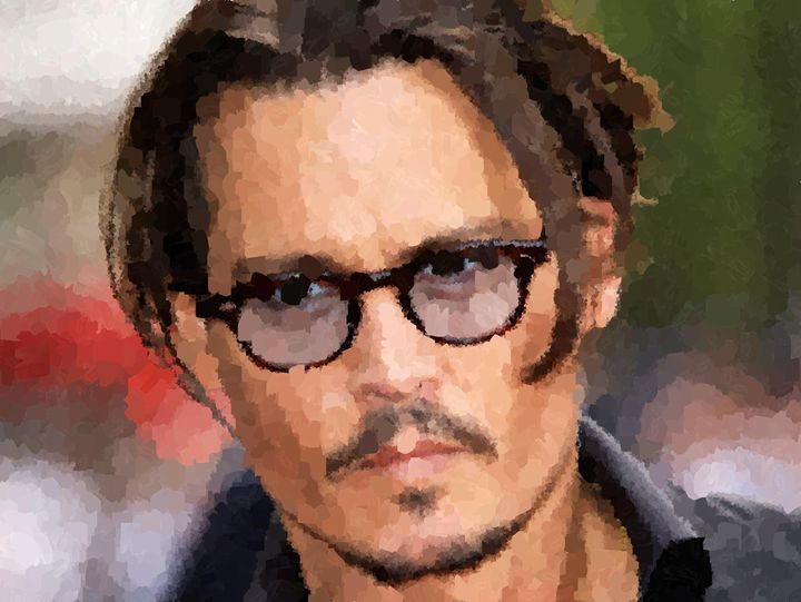Johnny Depp Portrait - Portraits by Samuel Majcen