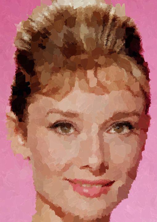 Audrey Hepburn Portrait - Portraits by Samuel Majcen