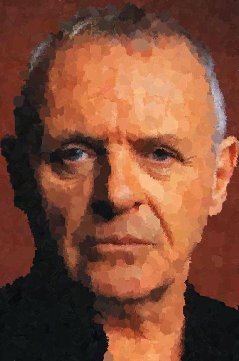 Anthony Hopkins Portrait - Portraits by Samuel Majcen