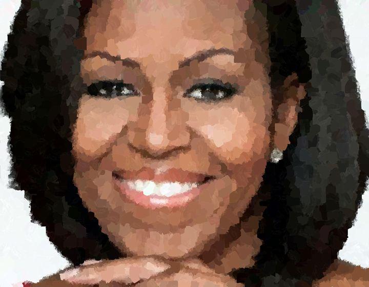 Michelle Obama Portrait - Portraits by Samuel Majcen