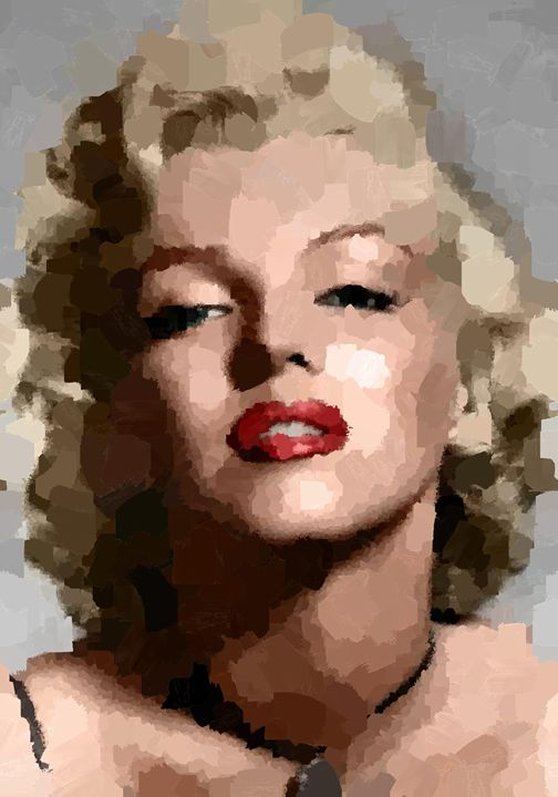Marilyn Monroe Portrait - Portraits by Samuel Majcen