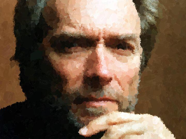 Clint Eastwood Portrait - Portraits by Samuel Majcen