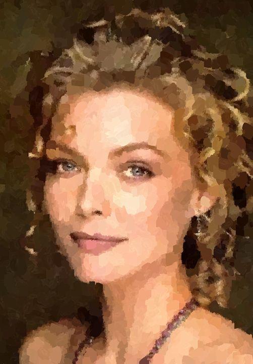 Michelle Pfeiffer Portrait - Portraits by Samuel Majcen