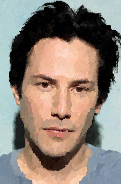 Keanu Reeves Portrait - Portraits by Samuel Majcen