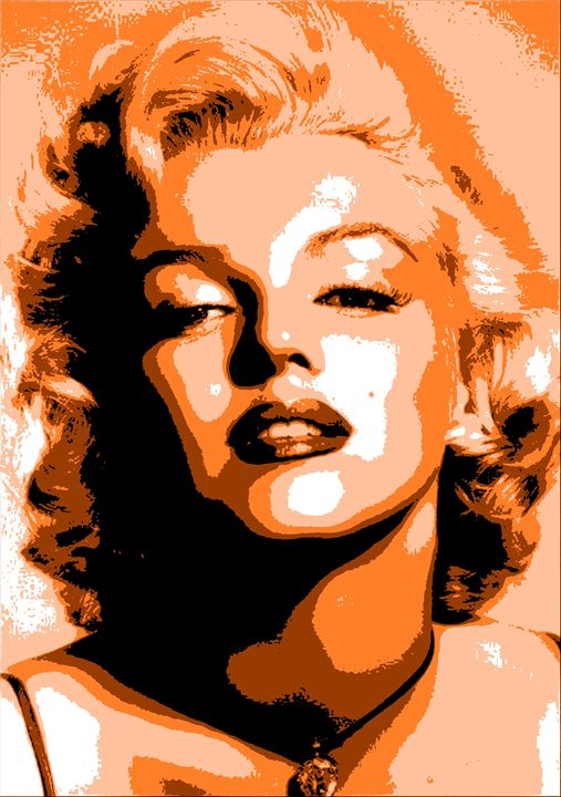 Marilyn Monroe 5 color Portrait - Portraits by Samuel Majcen