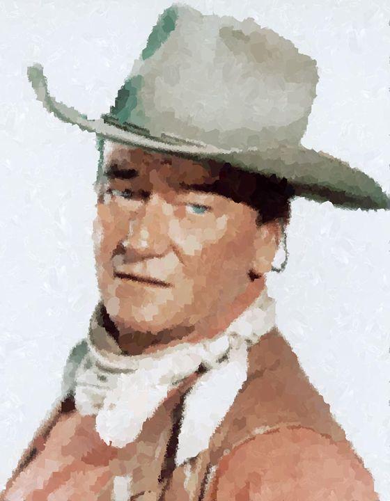 John Wayne Portrait - Portraits by Samuel Majcen