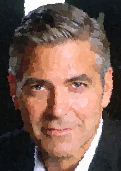 George Clooney Portrait - Portraits by Samuel Majcen