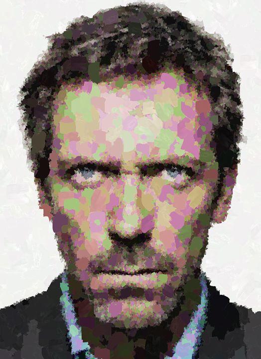 Dr.House Portrait - Portraits by Samuel Majcen