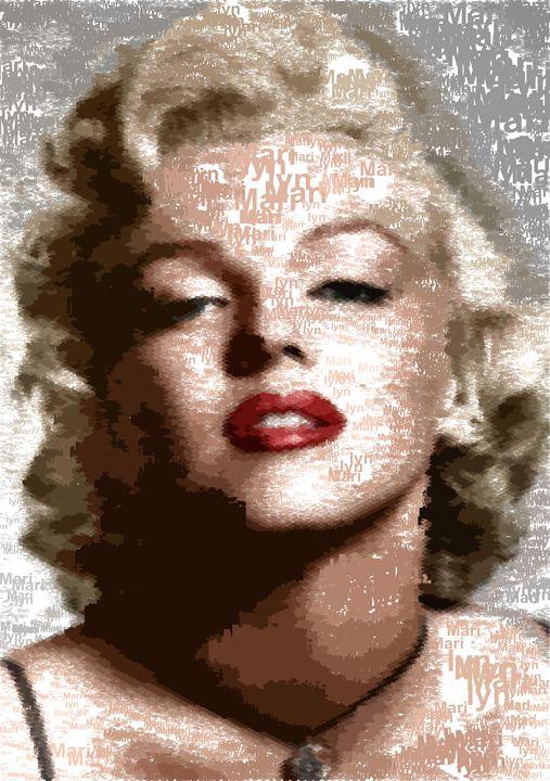 Marilyn Monroe - Name Characters - Portraits by Samuel Majcen