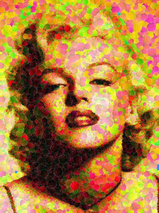 Marilyn Monroe - Roses - Portraits by Samuel Majcen