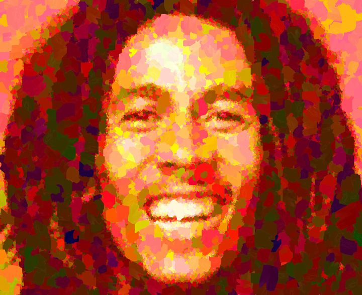 Bob Marley Portrait - Portraits by Samuel Majcen
