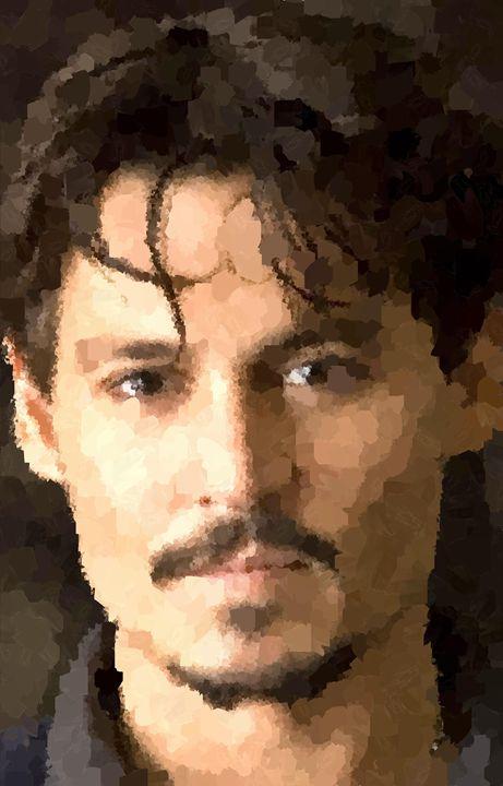 Johnny Depp Portrait - Portraits by Samuel Majcen