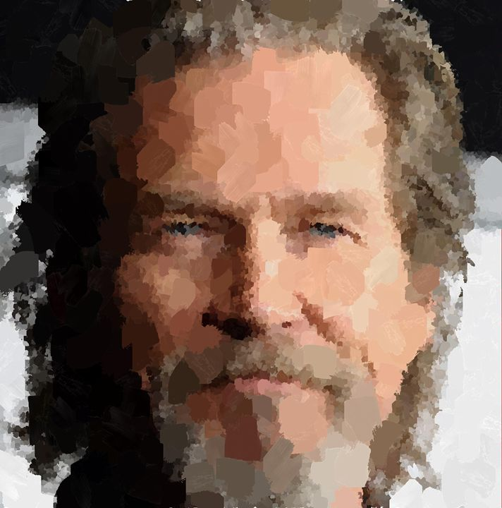 Jeff Bridges Portrait - Portraits by Samuel Majcen