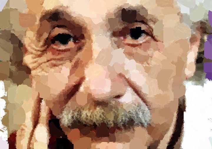 Albert Einstein Portrait - Portraits by Samuel Majcen