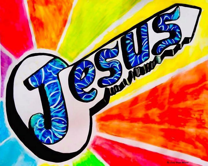 Bight Colorful Jesus Key = happiness - Jesus Marketing & Country