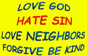 Love God, Love neighbor & be kind - Jesus Marketing & Country
