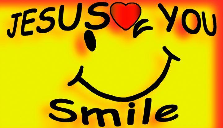 Colorful Smiley Smile Jesus love You - Jesus Marketing & Country
