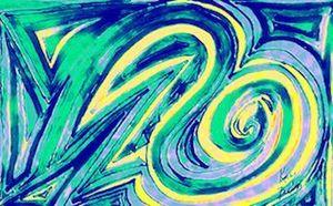 Yellow and Green Swirl