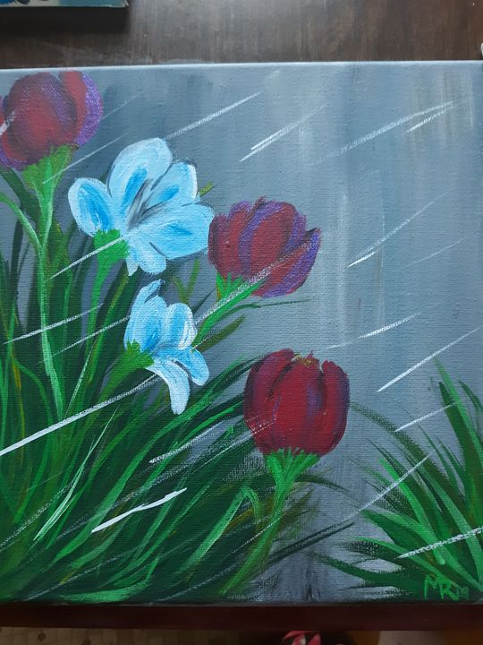 Blooming in rain - Miranda May'd Artwork