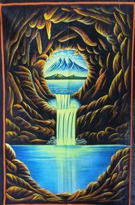 UV landscape painting fluorescence