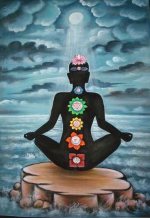 UV painting meditation chakras - shreekrishnam
