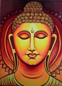 UV backdrops Buddha wall painting
