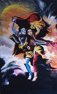 wall arts shiva  handmade painting
