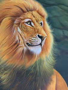 Painting lion Canvas Wall art