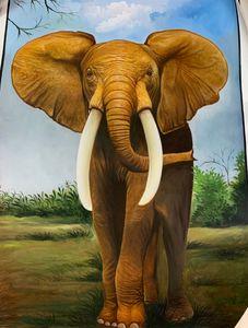 elephant handmade painting