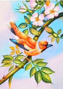 natural birds handmade painting