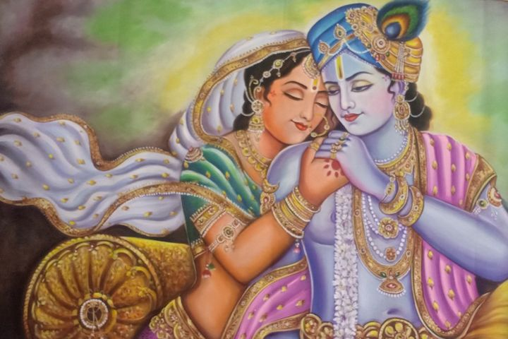 radha krishna india traditional art - shreekrishnam