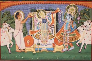 Traditional Painting of shrinath ji