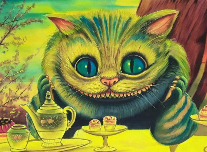 handmade cat painting - shreekrishnam